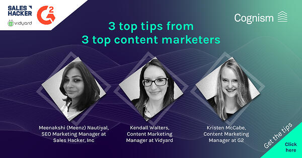 3 top tips from 3 top content marketers LI