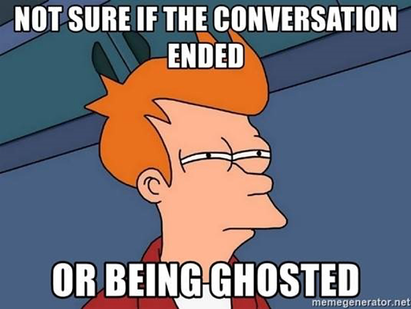 Ghosted meme