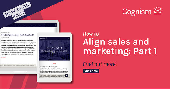 How to align sales and marketing - Part 1