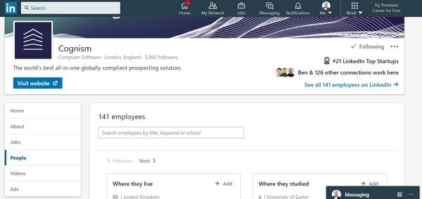 LinkedIn prospecting 2
