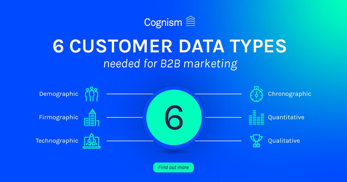 6 customer data types needed for B2B marketing