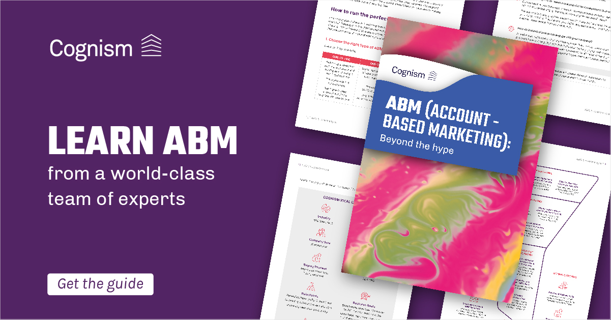 ABM: beyond the hype - a Cognism guide